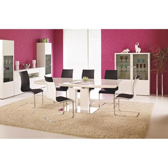 Justhome table de salle manger lorenzo extensible blanc for Table salle manger extensible 300 cm