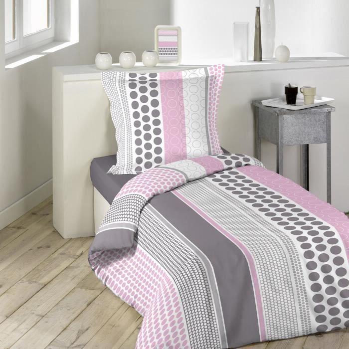 parure de couette 2 pi ces 140x200 popsy achat vente parure de couette les soldes sur. Black Bedroom Furniture Sets. Home Design Ideas