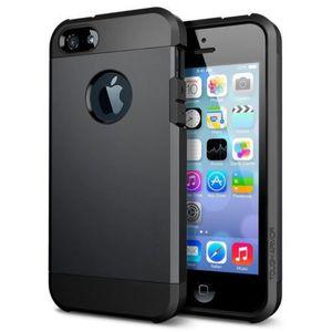 COQUE - BUMPER COQUE Etui ARMOR Antichoc Iphone 4 4S Noir