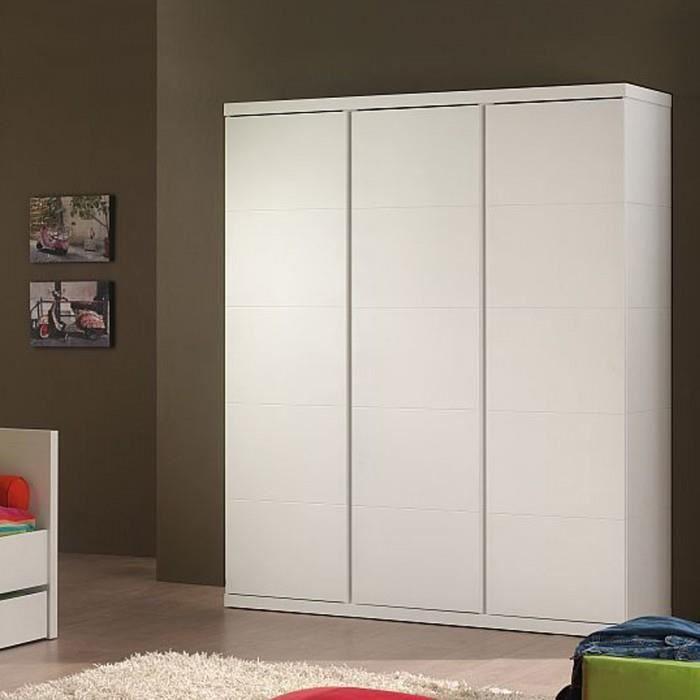 Armoire dressing enfant 3 portes lara couleur b achat vente armoire de c - Grande armoire dressing ...