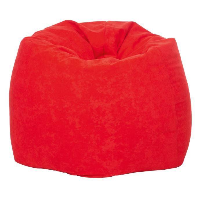 pouf big 300 micro rouge achat vente pouf poire cdiscount. Black Bedroom Furniture Sets. Home Design Ideas