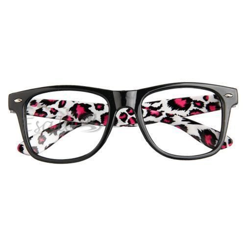mouture cadre de lunette classique noir leopard noir