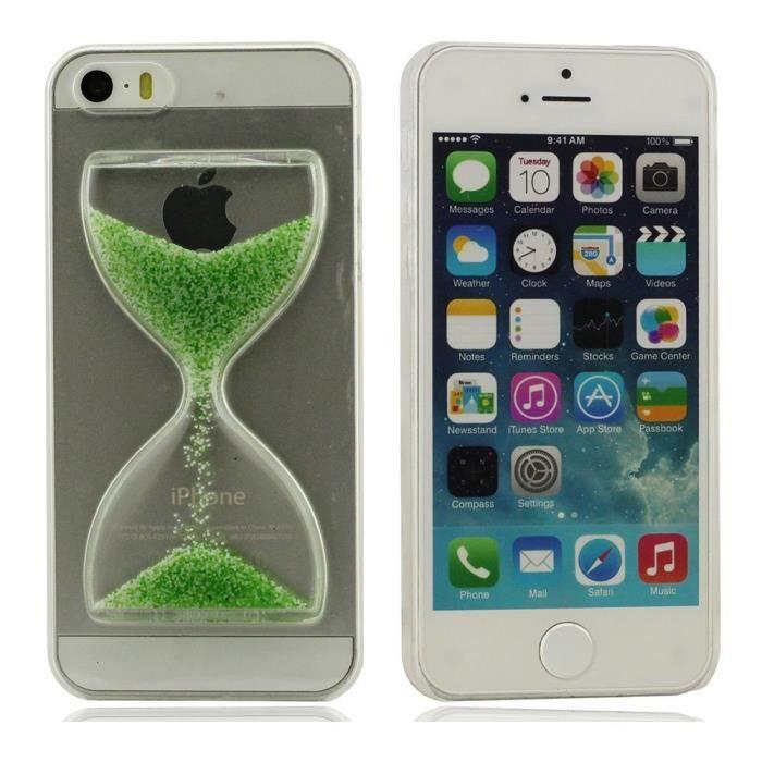 Lavie pour iphone 5 3d liquide circulant sablier glass for Cuisine 3d pour iphone