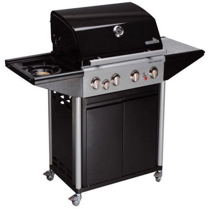 barbecue gaz sur roulettes 4 bruleurs achat vente barbecue barbecue gaz sur roulette. Black Bedroom Furniture Sets. Home Design Ideas