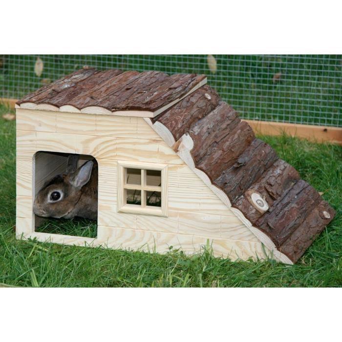 kerbl maison nature avec rampe pour rongeurs 49x25x25cm achat vente accessoire abri animal. Black Bedroom Furniture Sets. Home Design Ideas