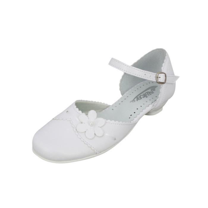 chaussures de communion fille ad nora blanc achat vente ballerine cdiscount. Black Bedroom Furniture Sets. Home Design Ideas