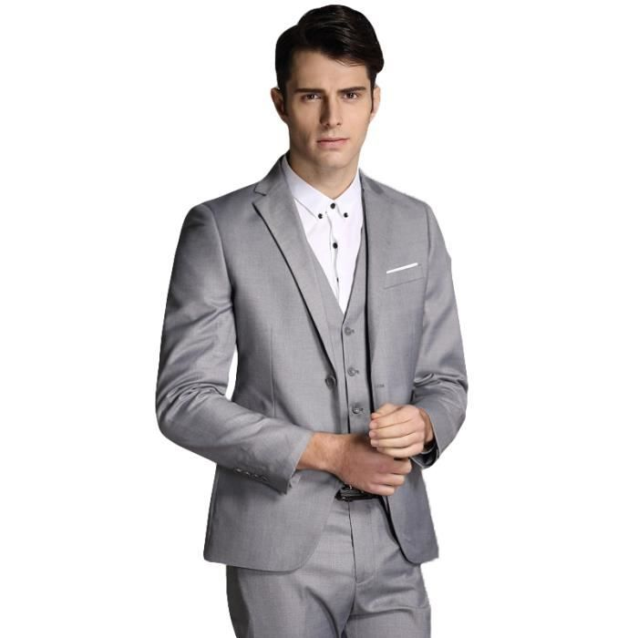 costume tailleur costume homme 3 pieces mariage dans costume sli - Costume Homme 3 Pieces Mariage