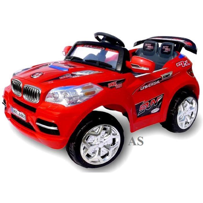 voiture lectrique pour enfant 4x4 bm w x8 rouge achat vente voiture voiture lectrique. Black Bedroom Furniture Sets. Home Design Ideas