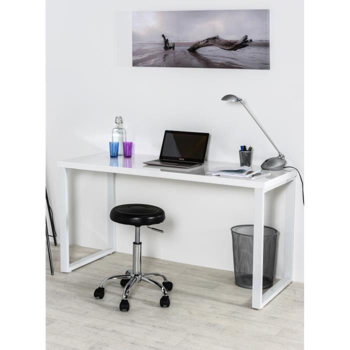 pretoria bureau 140cm blanc brillant achat vente. Black Bedroom Furniture Sets. Home Design Ideas