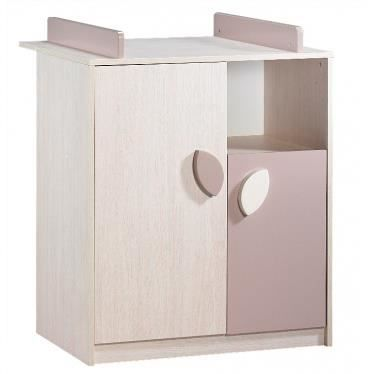Commode b b leaf frene blanc et taupe achat vente commode b b 200996897 - Commode bebe cdiscount ...