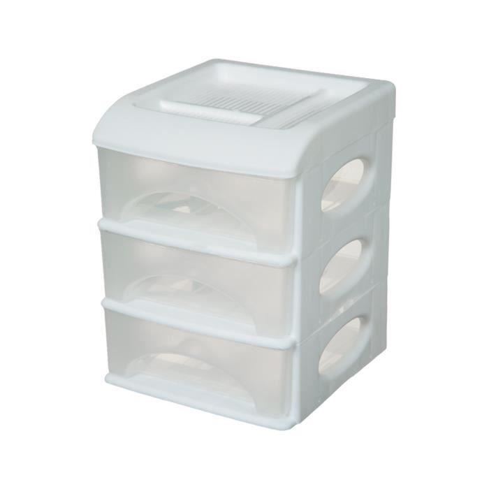bloc de rangement 3 tiroirs achat vente boite de rangement soldes d hiver d s le 11. Black Bedroom Furniture Sets. Home Design Ideas