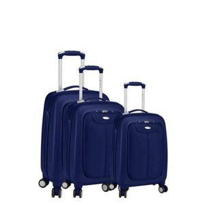 SET DE VALISES Set de 3 valises 4 roues bi-tone robust bleu