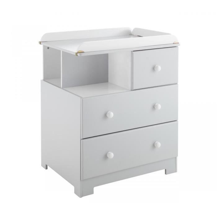 commode a langer grise. Black Bedroom Furniture Sets. Home Design Ideas