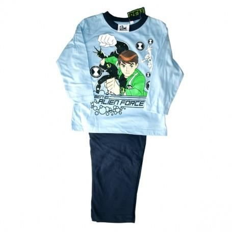 ben 10 pyjama gar on en coton t 3 ans bleu achat vente pyjama chemise de nuit. Black Bedroom Furniture Sets. Home Design Ideas