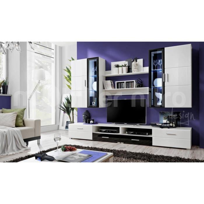 Meuble tv mural emilio achat vente meuble tv meuble tv for Meuble tv mural groupon