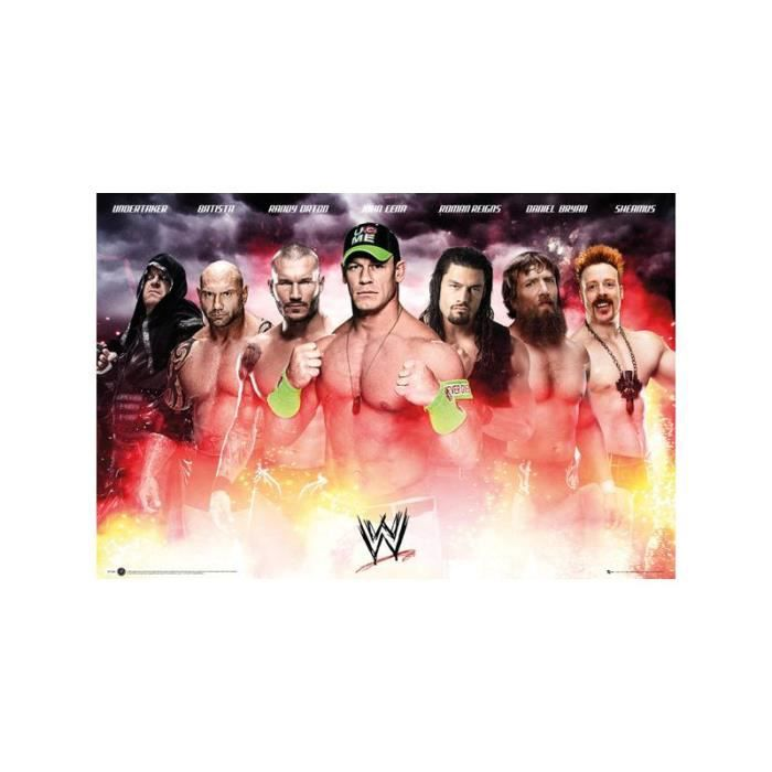 wwe collage posters affiche gb 61 x 91 5 cm achat vente affiche cdiscount. Black Bedroom Furniture Sets. Home Design Ideas
