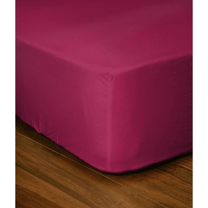 lovely home drap housse 90x190 25 fuchsia achat vente drap housse les soldes sur. Black Bedroom Furniture Sets. Home Design Ideas