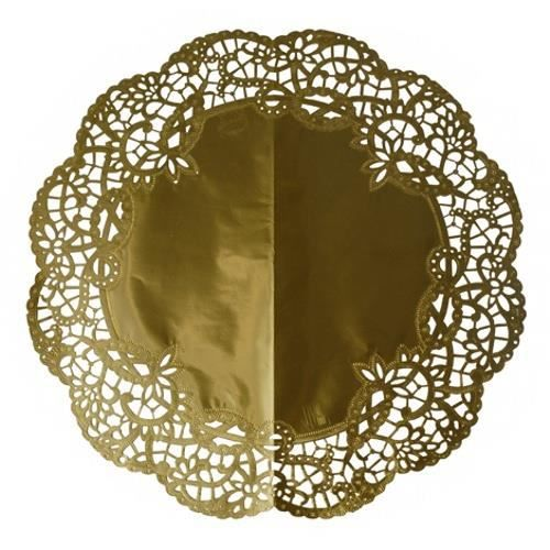 """[""""Fanart"""" culinaire] Cupcake Clotilde IV Napperons-dentelles-gateaux-rond-%C3%B8-36-cm-or"""