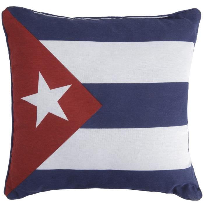 coussin motif drapeau cuba bleu blanc rouge bleu 1 achat vente coussin cdiscount. Black Bedroom Furniture Sets. Home Design Ideas