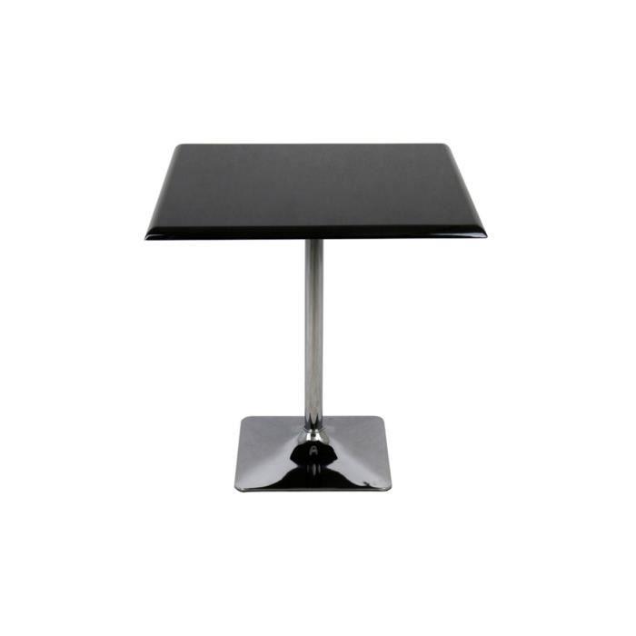 table de bistrot carr e blanc alexa achat vente table a manger sans chaises table de bistrot. Black Bedroom Furniture Sets. Home Design Ideas