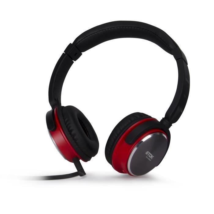 tdk st460s noir casque audio avec micro int gr casque couteur audio avis et prix pas cher. Black Bedroom Furniture Sets. Home Design Ideas