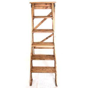 echelle en bois decorative achat vente echelle en bois decorative pas cher cdiscount. Black Bedroom Furniture Sets. Home Design Ideas