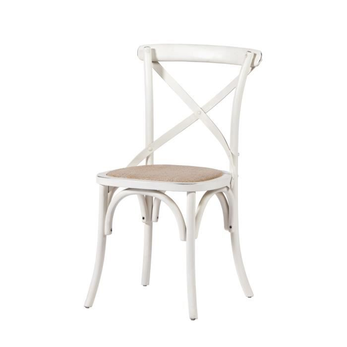 Chaise bristrot blanche meuble house achat vente for Chaise de bistrot blanche