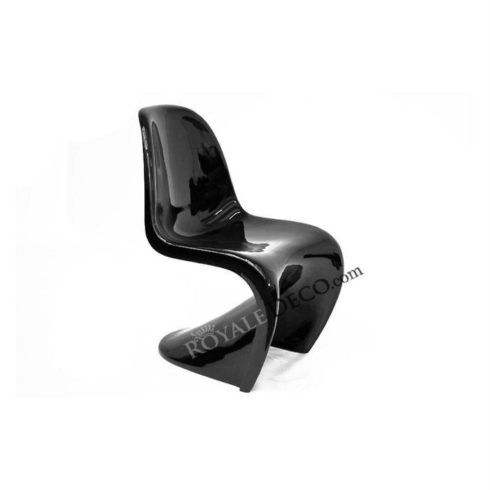 Chaise design phantom noir achat vente chaise fibre de for Chaise design phantom