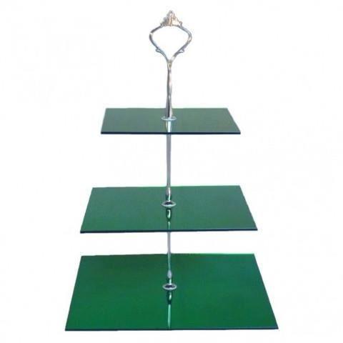 Miroir acrylique vert trois niveaux stand g teau carr for Miroir acrylique incassable