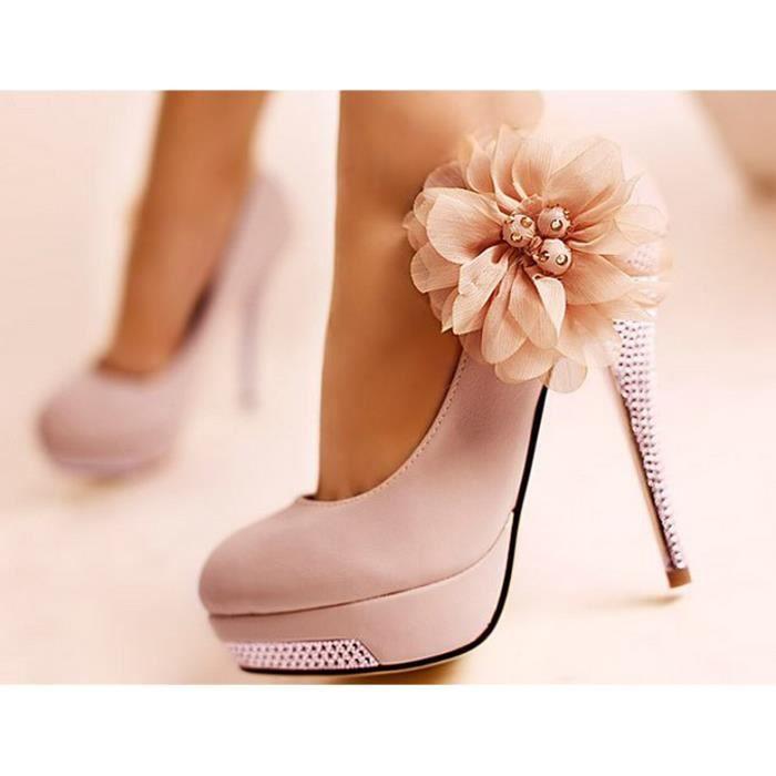 chaussures talons fleurs. Black Bedroom Furniture Sets. Home Design Ideas