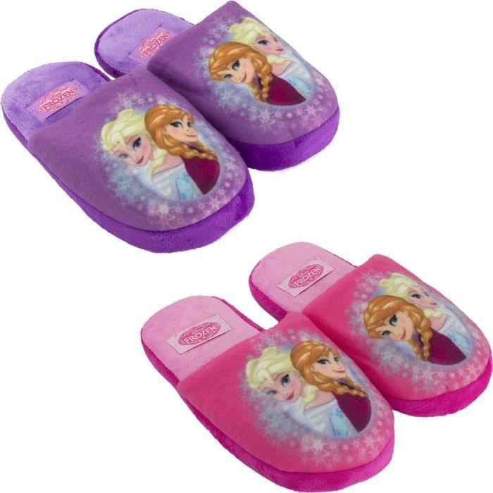 la reine des neiges chaussons fille anna et els violet violet achat vente chausson. Black Bedroom Furniture Sets. Home Design Ideas