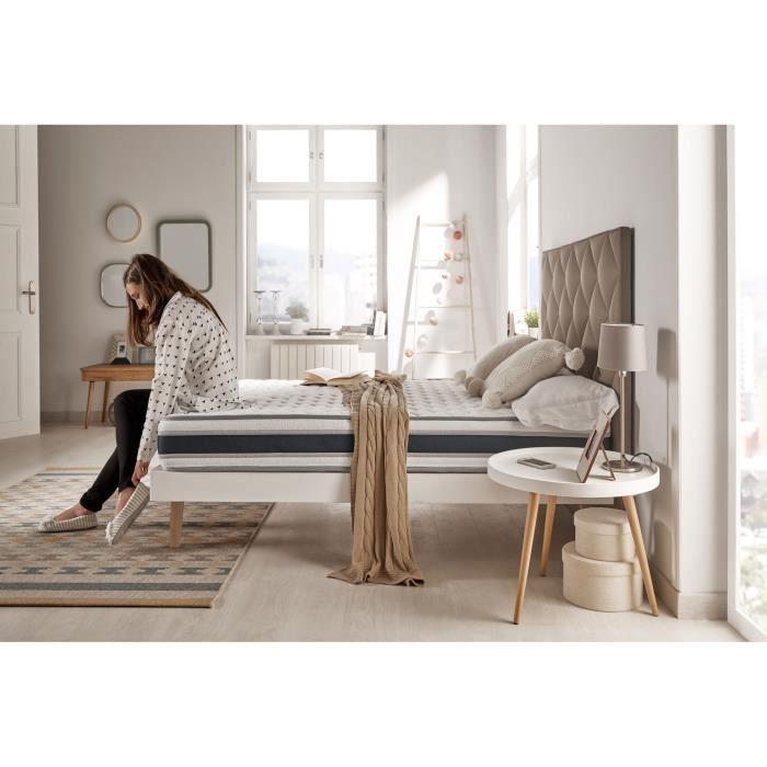 naturalex matelas confort 160x200 cm mousse profil e bi densit blue latex 22. Black Bedroom Furniture Sets. Home Design Ideas
