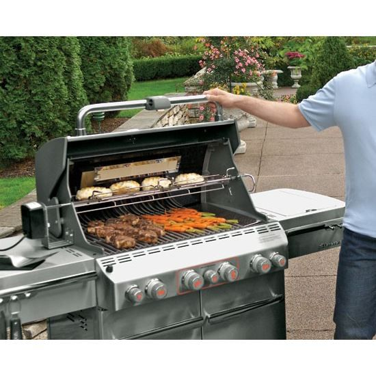 Barbecue summit s 470 inox sear station achat vente barbecue barbecues - Barbecue rotissoire gaz ...