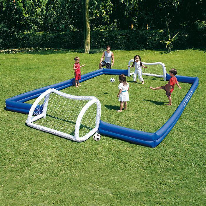 Terrain de football gonflable 620x366x71 achat vente mini cage de football cdiscount - Aire de jeux gonflable pas cher ...