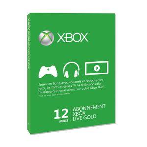 CARTE MULTIMEDIA XBox Live 12 mois