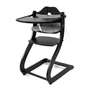 FIRST BABY SAFETY Chaise Haute en bois Caya Noire