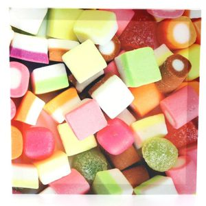 Tableau   toile bonbons acidules 28 x28 cm