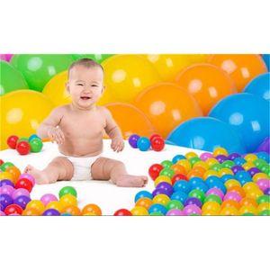 PISCINE À BALLES 50 pcs épaissir souple en plastique piscine boule