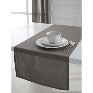 CHEMIN DE TABLE TODAY Chemin de table 50x150cm coton MASTIC