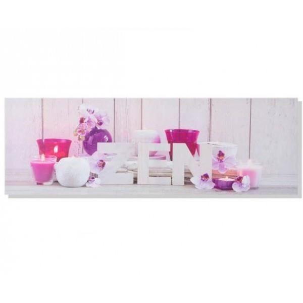 tableau toile cadre zen bougie et orchid e 90 x 30 cm achat vente tableau toile. Black Bedroom Furniture Sets. Home Design Ideas