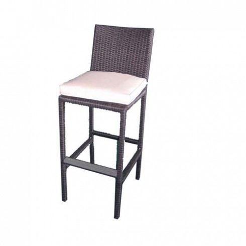 Tabouret de bar r sine tress e coloris noir achat vente fauteuil jardin - Chaise de jardin en resine tressee ...