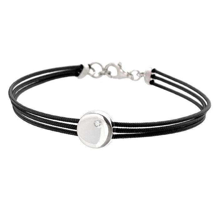 bracelet or diamant noirs