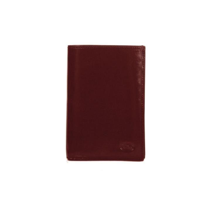 Chocolat porte feuille femme en cuir de vachette collet katana k353017 marr - Vente de chocolat porte a porte ...