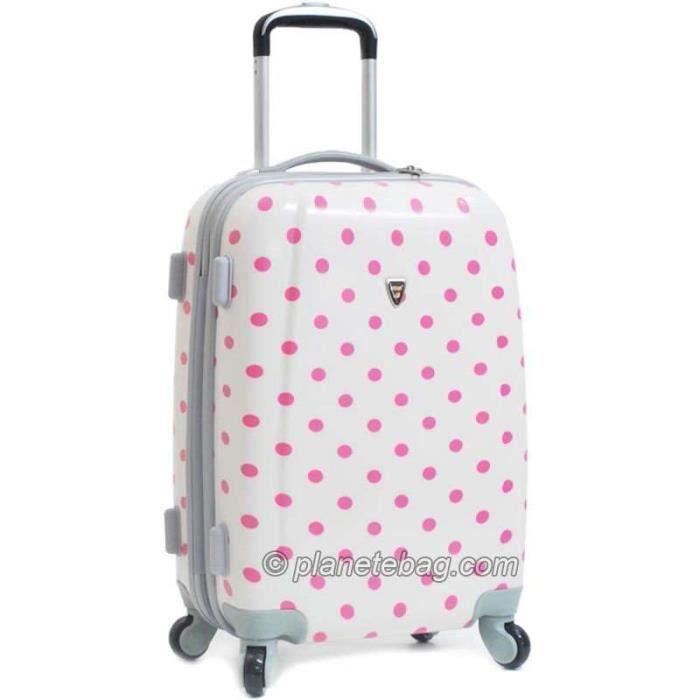valise pois 4 roues rigide 60cm blanc achat vente valise bagage valise pois 4 roues. Black Bedroom Furniture Sets. Home Design Ideas