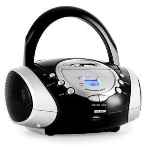 Radio portable lecteur cd usb noire tuner radio prix - Lecteur cd usb portable ...