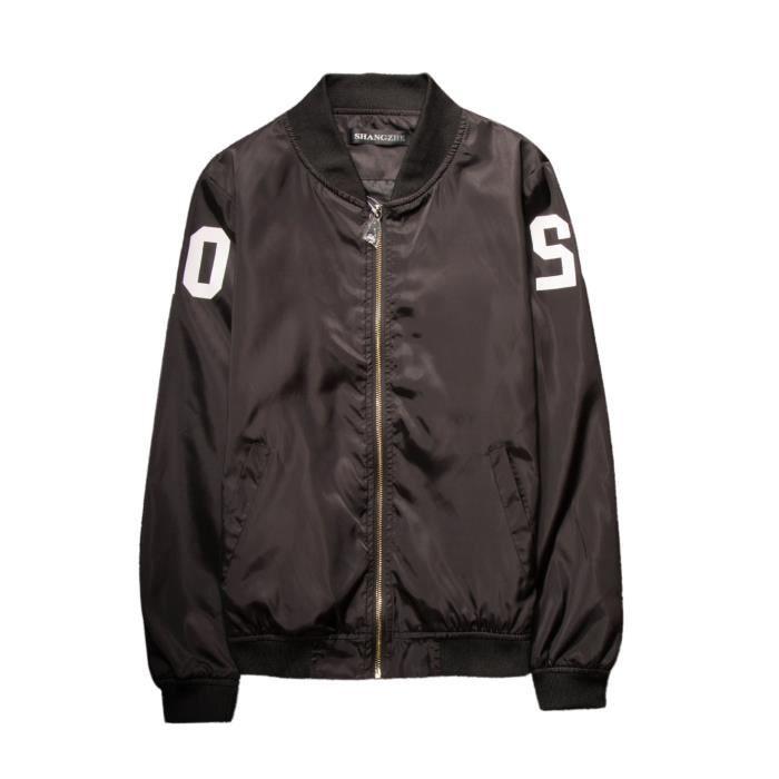 Homme manteau veste d contract noir noir noir noir achat vente manteau caban cadeaux de - Veste homme decontracte ...