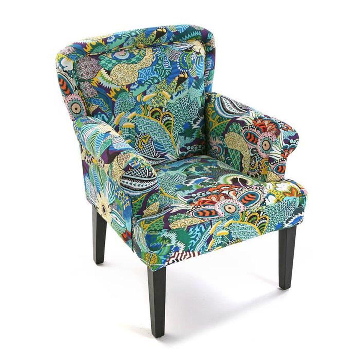 fauteuil tropical multicolore achat vente fauteuil cdiscount. Black Bedroom Furniture Sets. Home Design Ideas