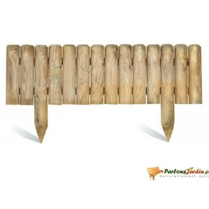 bordure de jardin en bois achat vente bordure de jardin en bois pas cher les soldes sur. Black Bedroom Furniture Sets. Home Design Ideas