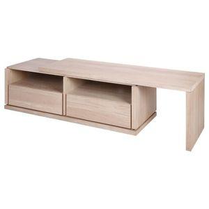 meuble chene blanchi achat vente meuble chene blanchi pas cher les soldes sur cdiscount. Black Bedroom Furniture Sets. Home Design Ideas