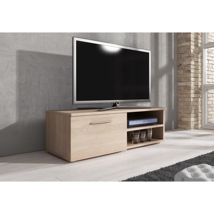 meuble tv vegas ch ne clair 120cm achat vente meuble tv meuble tv vegas ch ne cla. Black Bedroom Furniture Sets. Home Design Ideas